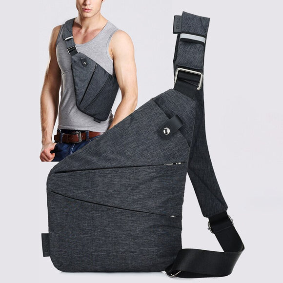 Men Shoulder Bags Men Travel Business Bag Burglarproof Shoulder Bag Holster Anti Theft Security Strap Digital Storage Chest Bags