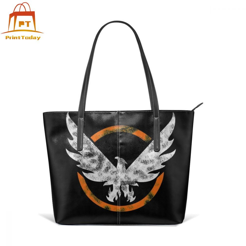 Shd Agent Handbag The Division Merch Top-handle Bags Pattern Large Leather Tote Bag Women's Teenage School Trendy Women Handbags