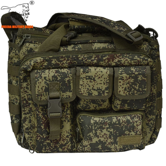 Russia Army Camouflage tactical messenger bag multi-function 14 inch EDC tactical laptop bag military cross-body bag range bag
