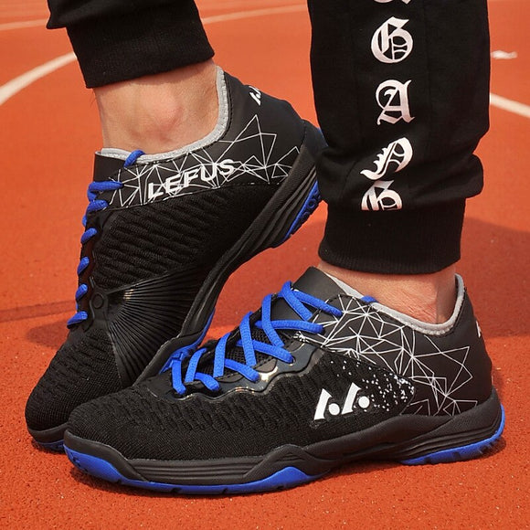 Men Wearable Badminton Shoes Outdoor Sports Breathable Women Sneakers Unisex Soft Lightweight Anti-slip Shoes D0884