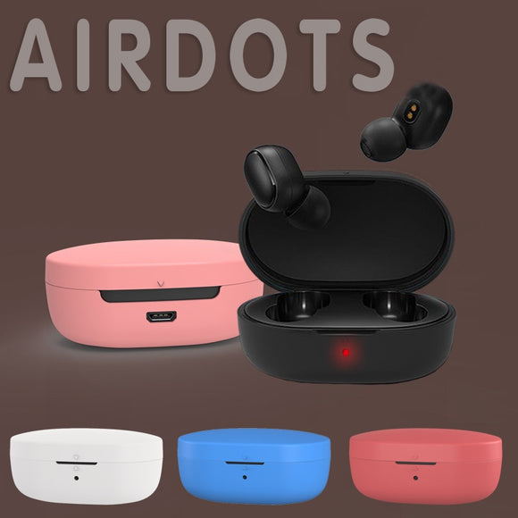 8 Colors Silicone Case For Redmi Mi AirDots Air Dots Case Cover Wireless Bluetooth Cases Soft Shell Earphone Accessories