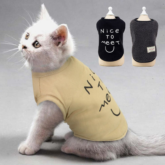 Winter Cat Clothes Warm Pet Dog Clothes Puppy Clothing Double Side Wear Dog Jacket Cat Coat Chihauhua Yorkshire Clothes