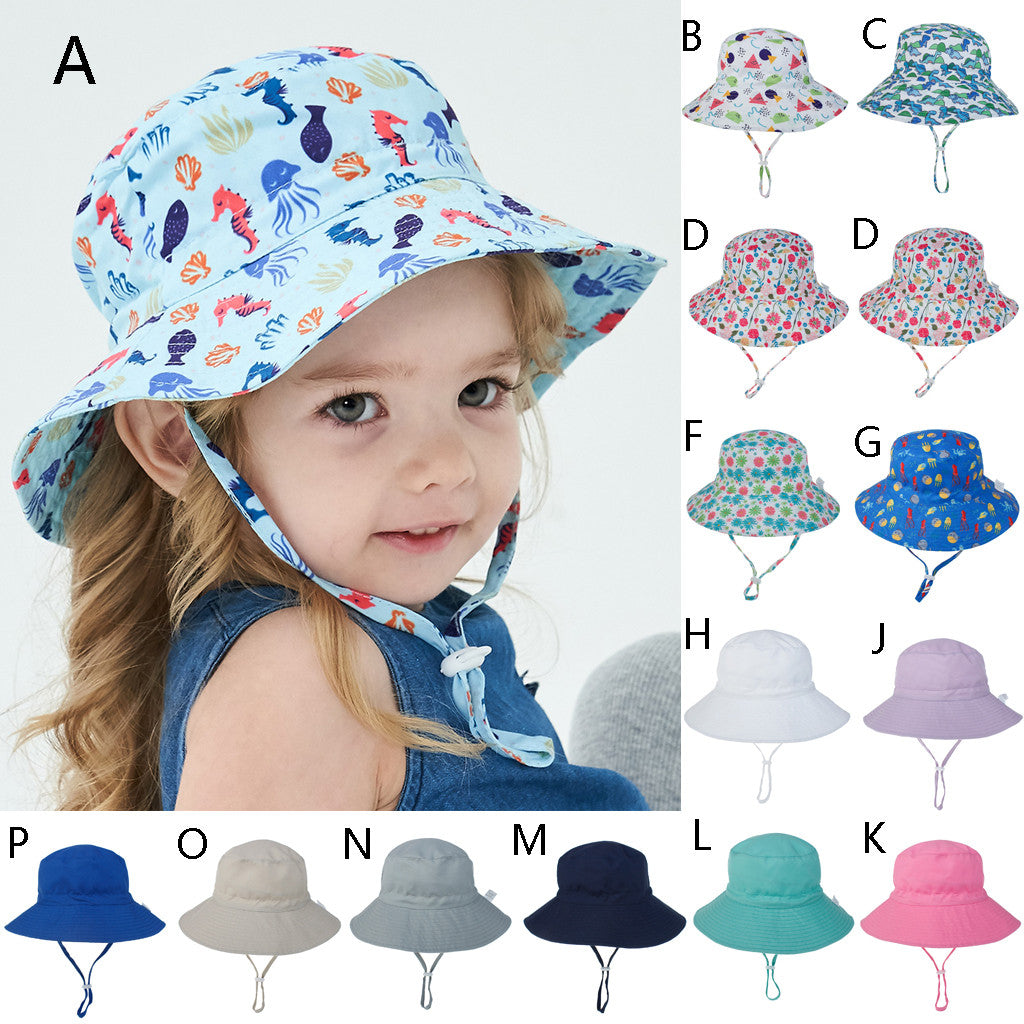 0-8 Years Kids Hat  Baby Boys Girls Summer Sun Protection Hat Sunscreen Cap Hat Fisherman's Hat fashion Kids sun ha