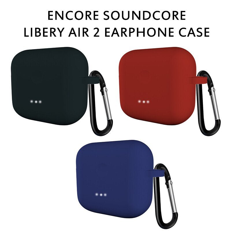 Silicone Comprehensive Protective Case Clamshell Opening For Anker Soundcore Liberty Air2 Bluetooth Earphone Accessories