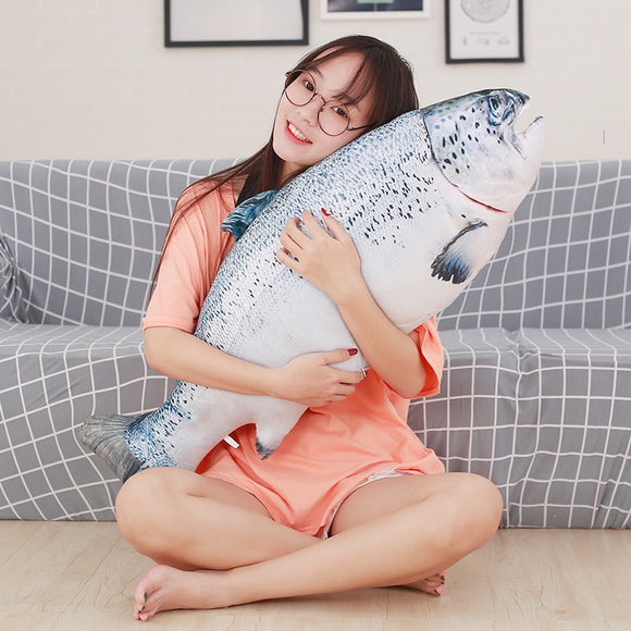 20/40cm Funny Simulation Fish Plush Toy Stuffed Weever Trout  Animal Toys Pet Cat Dog Toy Baby Kids Room Decor Birthday Gift