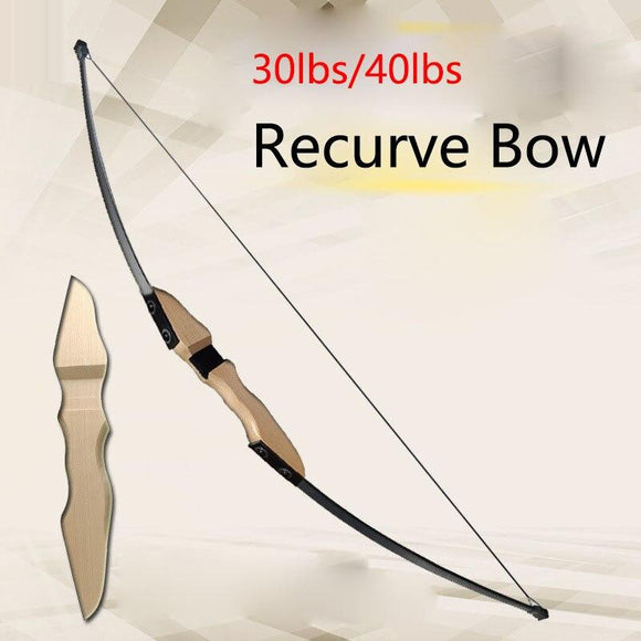 30lbs/40lbs Taken down Recurve Bow for Archery Bow Shooting Hunting Game Outdoor Sports Right hand bow can choose