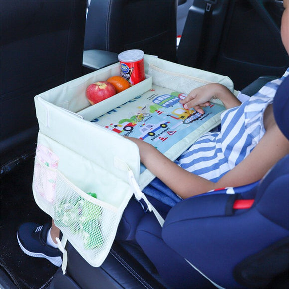Kids Car Seat Travel Tray Stroller Holder Waterproof Toy Food Drink Table Plate Organizer Bag For Car  Accessories