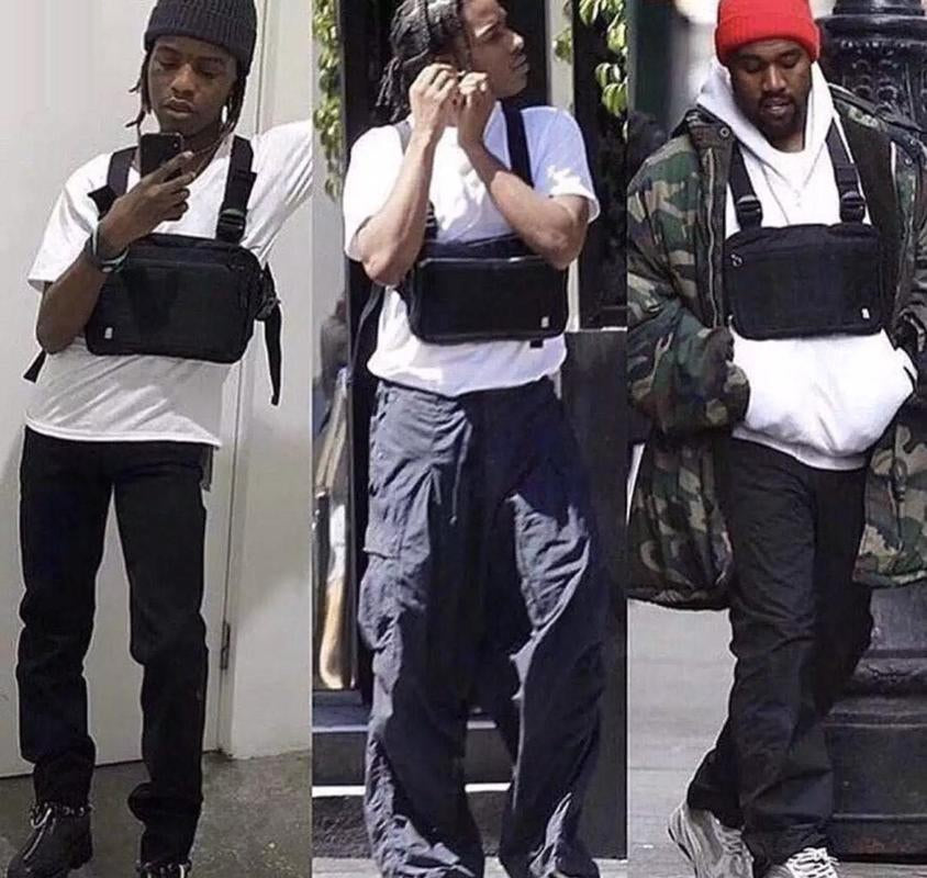 ALYX bag Men Tactical Shoulder Bags Chest Rig Bag Kanye west Hip Hop Alyx Adjustable Pockets Functional Waist Packs