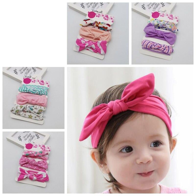 Girls Hair Bands Pearls Resin Lace Bow Ribbon Crown Princess Kids Accessories ZL
