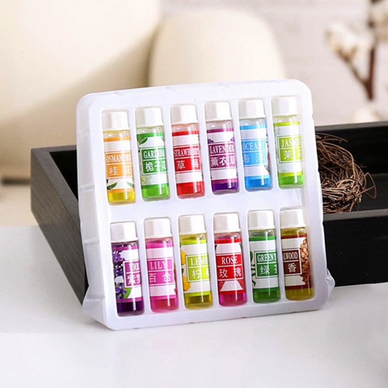 12 Bottles/set Essential Oil  6 Kind 5ML Fragrance Aromatherapy Oil For Diffuser Aromatherapy Humidifier Natural