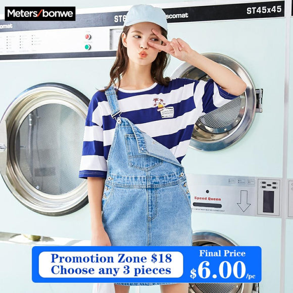 Metersbonwe brand 2019 woman dress girl spring denim dress preppy style dress party clothes student jeans dress dropshipping