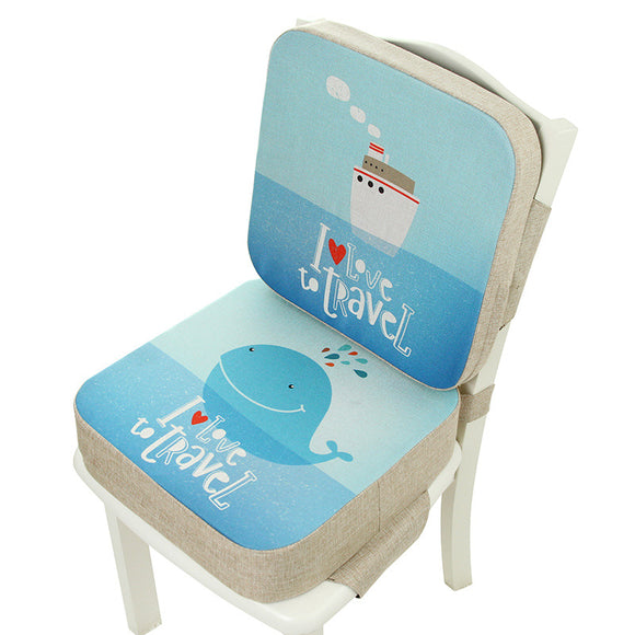 Anti-Skid Waterproof Baby Dining Cushion Adjustable Chair Cushion Kids Heighten Booster Seat Cushion Children Increase Chair Pad
