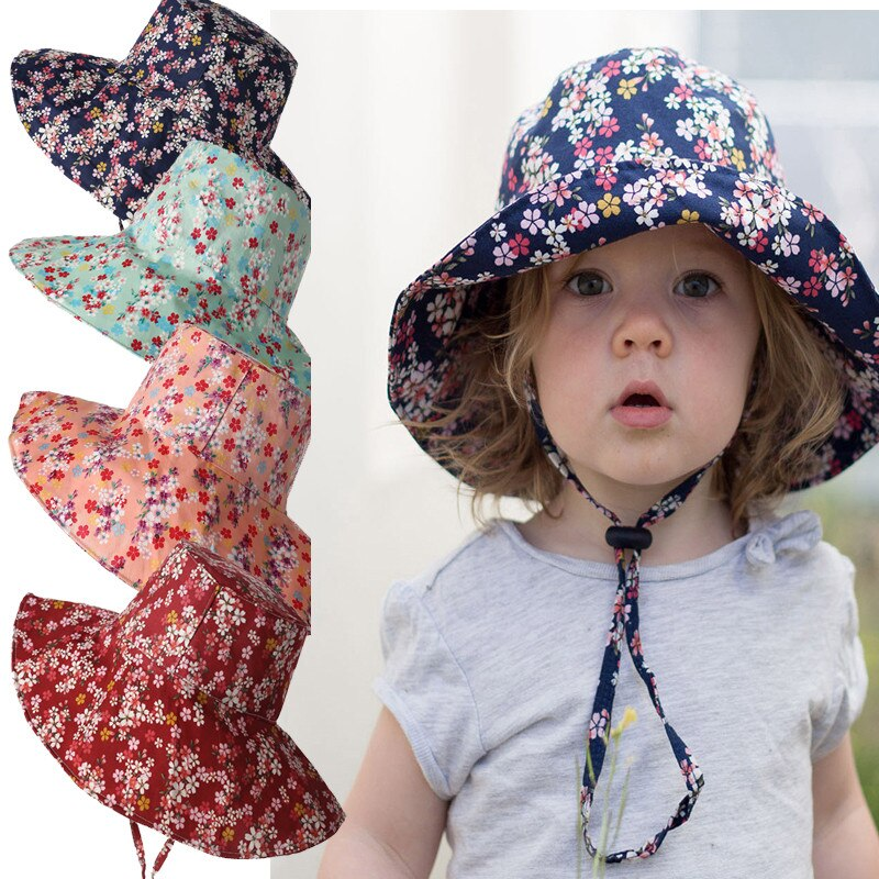 Children's Hats 2020 Spring Summer New Sun Hat Baby Travel Beach Hat Fishing Floppy For Boys Girls Baby Cap 3-8 Years