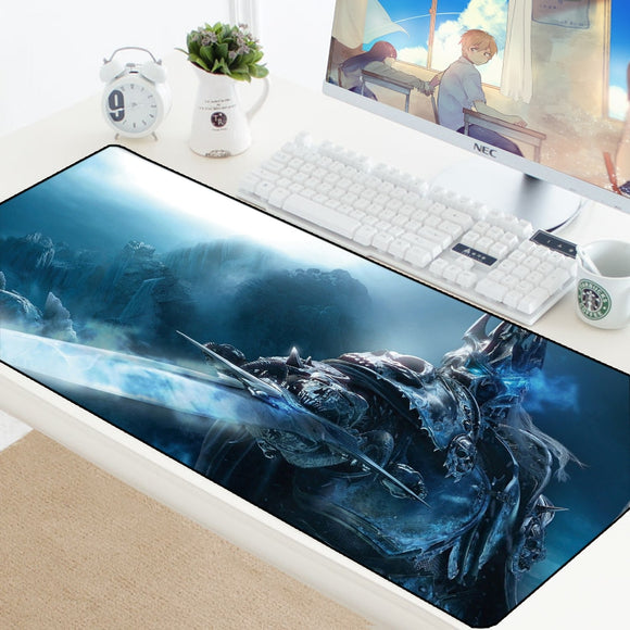 World of Warcraft Gaming Mouse Pad WOW Lich King Mousepad Large Anti-slip XL Keyboard Desk Mouse Mat For Laptop Rubber Play Mat