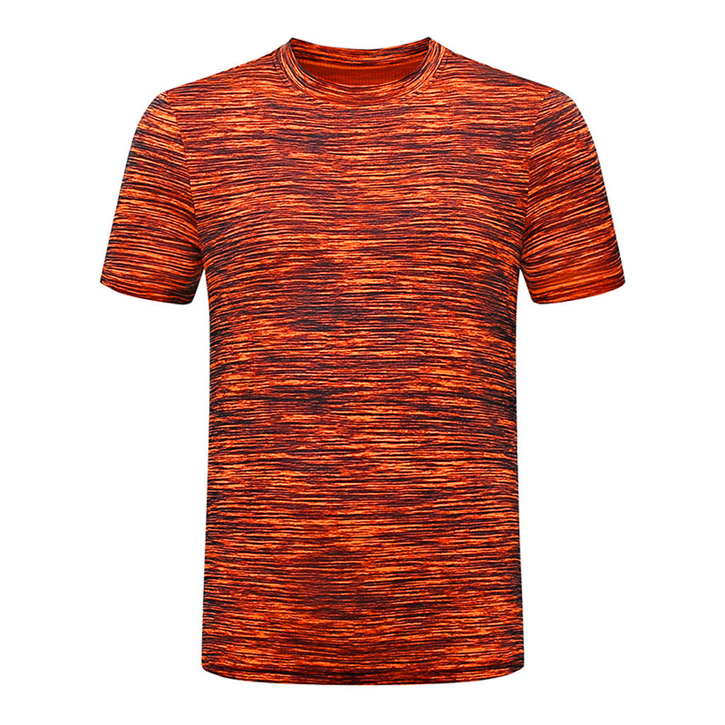 2019 Fashion Mens Summer Nose Solid Color Print Round Neck Short Sleeve Comfort T-Shirt Casual Daily Joker Top