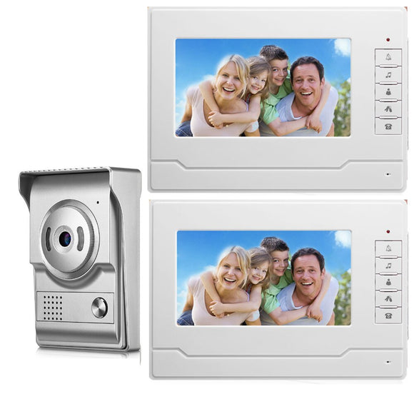 SmartYIBA Video Ring Door Phone Wired Intercom Camera Night Vision For Home Surveillance Two-Way Intercom Video Call Doorbell
