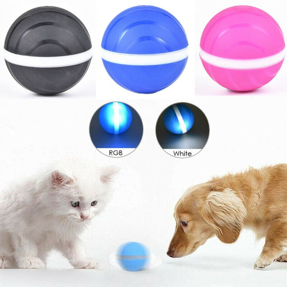Newest Hot Electric Magic Roller Ball Pet Cat Dog Toy Durable LED Jumping Automatic Luminescence Rolling Ball