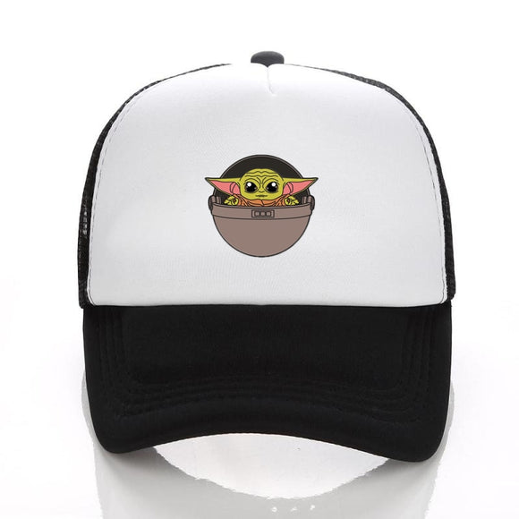 Star War Spring Summer Mesh Cap Adjustable Baby Yoda Baseball Hat Kids Sun Visors Caps for Adult