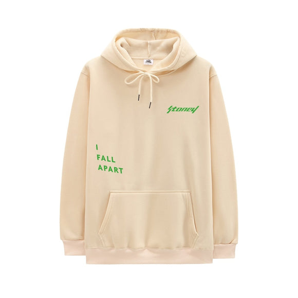 2020 New Arrival Post Malone Hoodie Men Hip Hop Swag Hoody Stoney I FALL APART Letter Print Long Sleeves Harajuku Hoodies