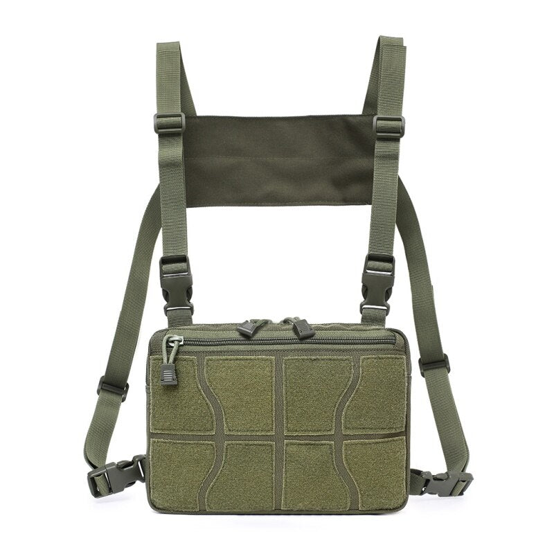 Outdoor Sports Hunting Bag Adjustable Tactical Chest Rig Shoulder Bag Waist Packs Chest Recon Bag Tools Pouch