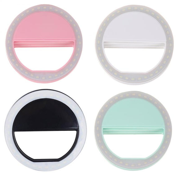 Universal Selfie Ring Lights Mobile Phone Lens Portable Flash Ring LED Luminous Ring Clip Light For IPhone Xiaomi Ring Light