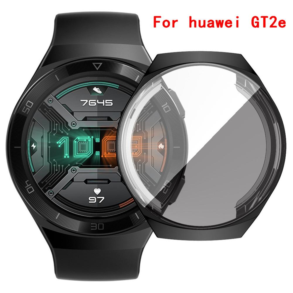 Electroplate Soft TPU Case Cover Protector for huawei watch GT2e Smart Watch Bracelets Band Accessories Bumper Shell GT 2e 2 e