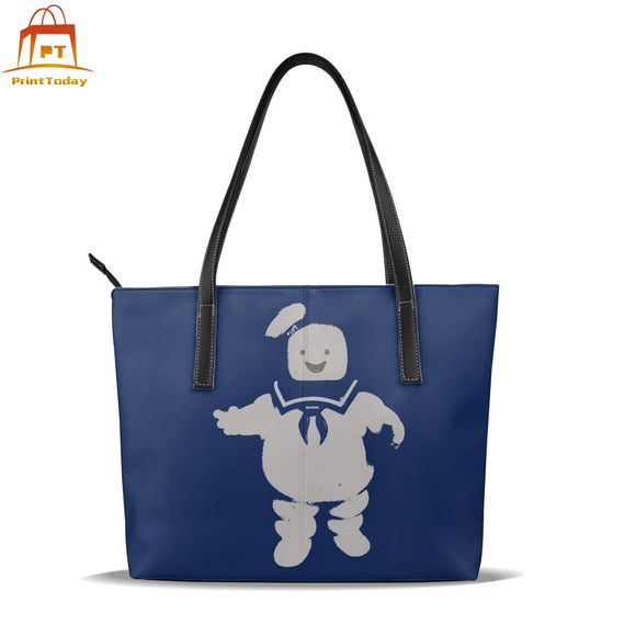 Ghostbusters Kids Handbag Mr. Stay Puft Marshmallow Man Top-handle Bags High quality Trending Leather Tote Bag Women Handbags
