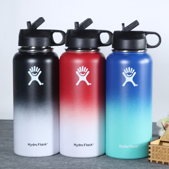 hydro flask 18oz 32oz 40oz Tumbler Flask Vacuum Insulated Flask Stainless Steel Water Bottle Wide Mouth Outdoors Sports Bottle
