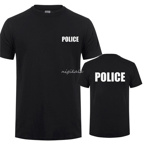 SWAT SECURITY Printing T-Shirt For Man Woman CSI Fancy Dress Novelty Cops Workwear  Short Sleeve O Neck T Shirt Tee