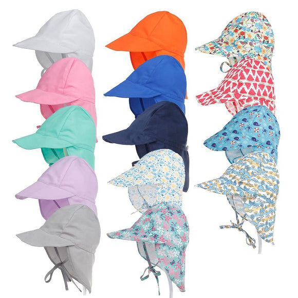 SPF 50+ Summer Baby Hat Adjustable Sun Baby Cap Travel Beach Caps Baby Summer Swimming Hat for Boys Girls Kids Sun Hat