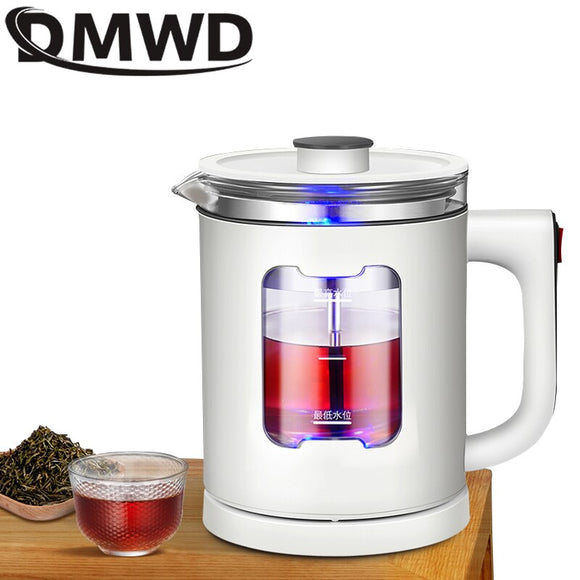 DMWD Multi-function Electric Kettle Health Pot Stew Cup Preserving Boil Teapot Heating Cup Soup PorridgeThermal Kettle Bottle
