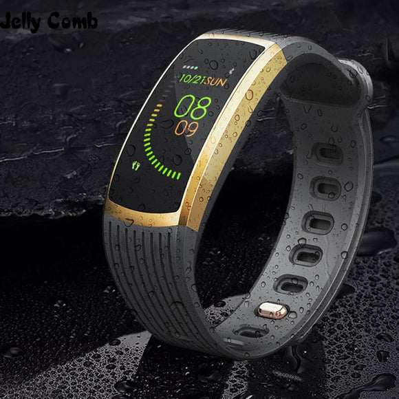 Jelly Comb Bluetooth Smart Watch Men Women Heart Rate Blood Pressure Health Waterproof Smart Watch Wristband Fitness Tracker
