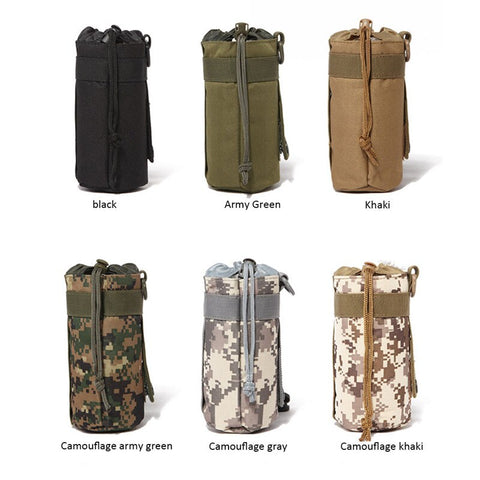 Tactical Military System Water Bottle Bag Kettle Pouch Holder Bag Outdoor Kd