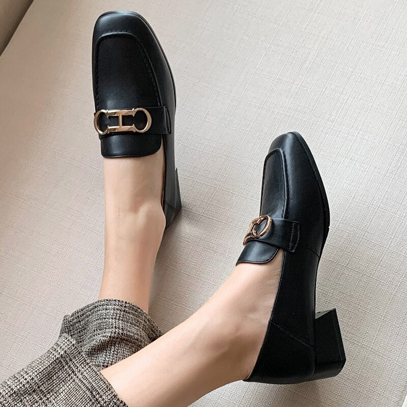 2020 Spring Black Beige Women Loafers Flat Shoes Round Toe Low Heel Lady Shoes Woman Casual Shoes Size 35-40 21801AIN3948