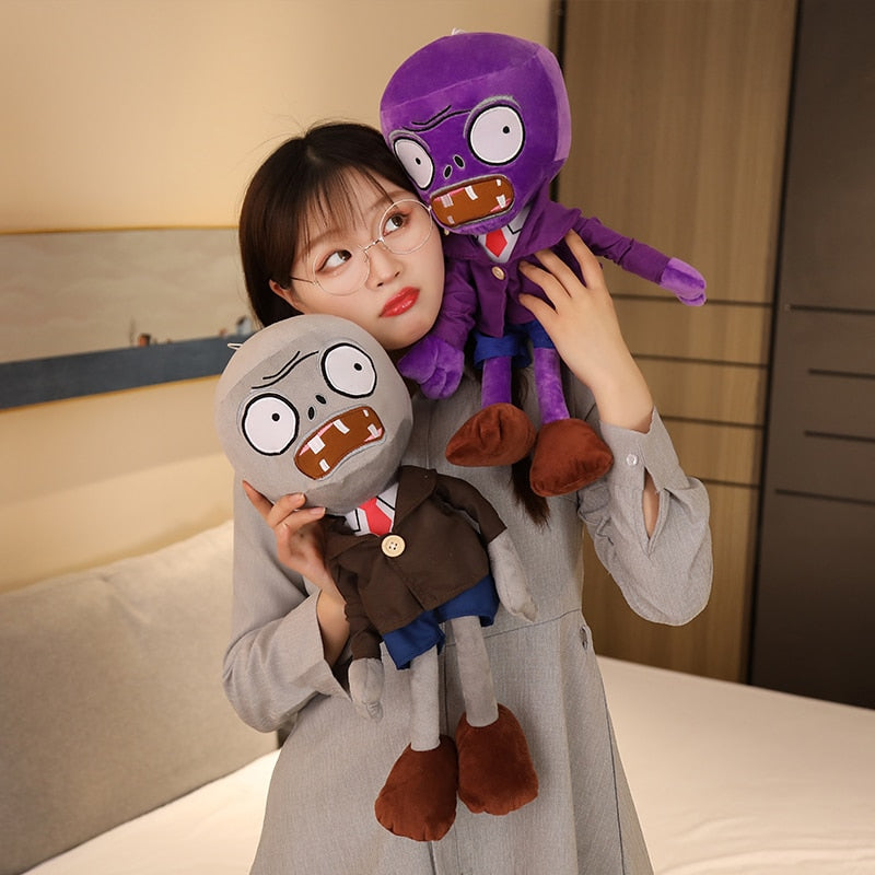 1pc 30-50cm Plants Vs Zombies Plush Toys Duck Hat Zombie Doll Soft Stuffed Animals Baby Toys for Children Boys and Girls Gifts