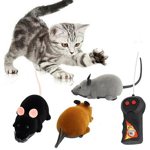 Animal Toys Funny RC Wireless Remote Control Rat Mouse Toy for Cat Dog Pet Kids Educational Toys for Children Gift