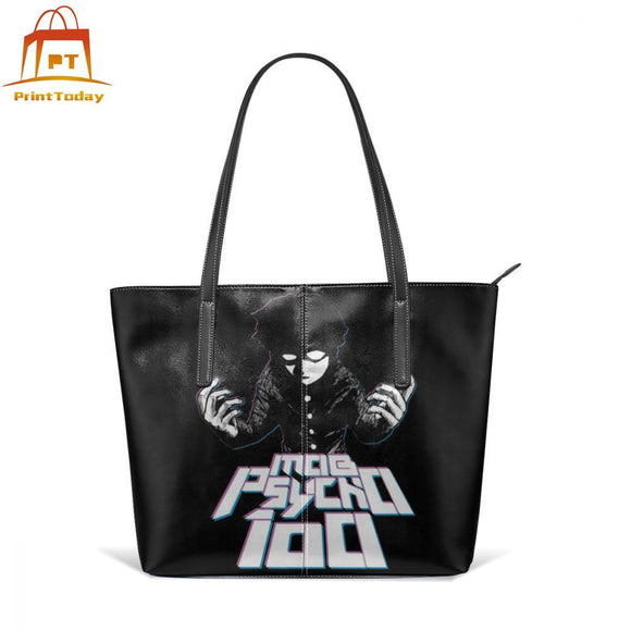 One Punch Man Handbag Mob Psycho Top-handle Bags Womens High quality Leather Tote Bag Teen Trending Oversized Women Handbags