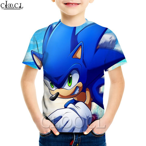 Silver Basic Boys Summer Vest Top and Shorts Set Sonic Tshirt Cosplay Sonic Pyjamas Inspired by Popular Video Game Sonic The Hedgehog