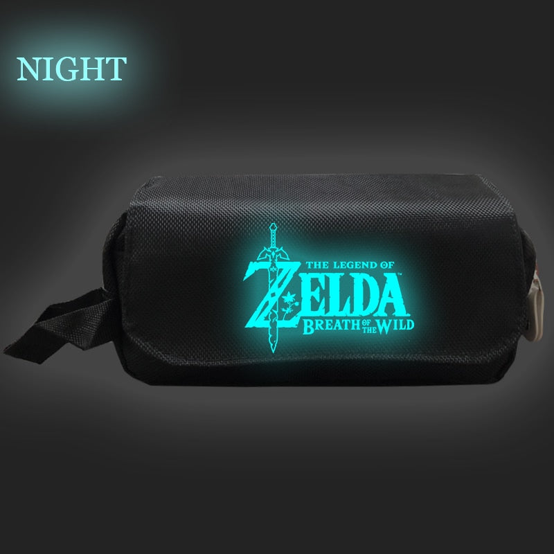 The Legend of Zelda Makeup Bag Cosmetic Case Double Layer Pencil Case Boys Girls Storage Bags Makeup Travel Bag Purse Organizer