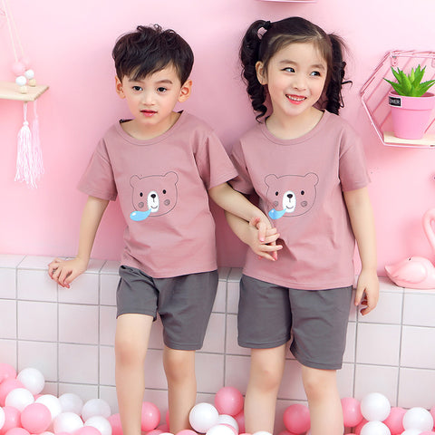 Boys/&Girls Casual Simple Cozy Soft Vest Summer 2ps Clothing Sets