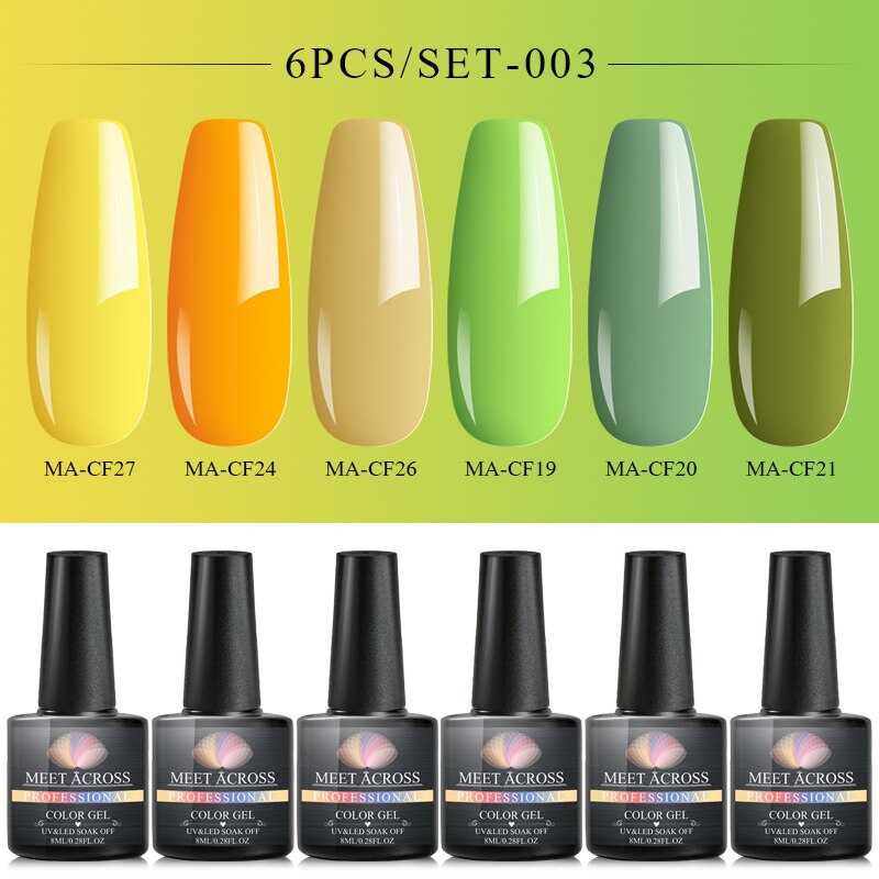 Spring Summer Light Pure Color Nail Gel Polish Soak Off UV Gel Long Lasting Nail Polishes Lacquer Nail Art Tips Design Manicure