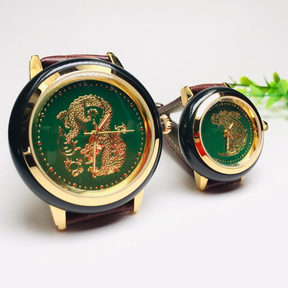 NEW Luxury Brand 2019 Women Watch natural Hetian Jade Couple Clock fashion hot Creative unique Trend Top Business Men Wristwatch