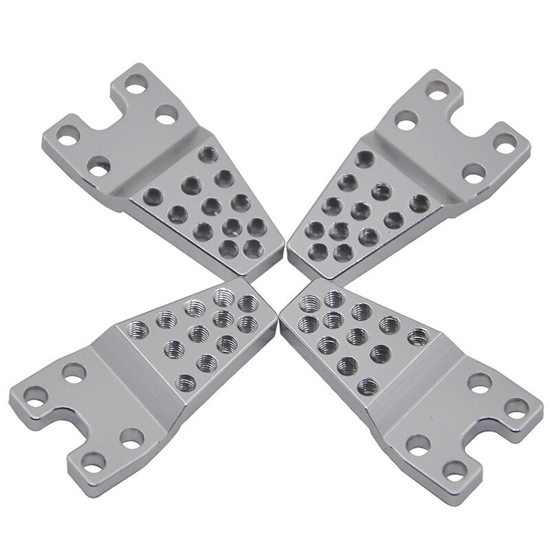 Aluminum Rear Bracket Y-Link AX80043 Silver For RC Axial SCX10 Jeep Wrangler