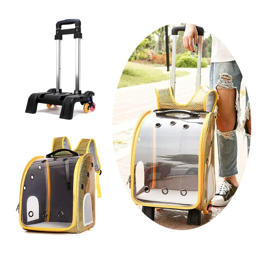 2in1 Pet Dog Carrying Trolley Bag Cat Breathable Portable Packaging Bag Outdoor Travel Backpack For Dog Cat Carrier Pet Stroller