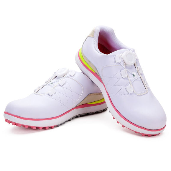 2020 Women Breathable Golf Shoes For Women Lightweight Training Sneakers Ladies Waterproof Spikes Sports Golf Shoes D9107