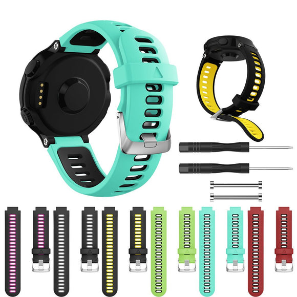 Soft Silicone Strap Replacement Watch Band For Garmin Forerunner 230/235/620/630/735XT Smart watch Bracelets accessories #731