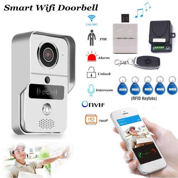 Smart Doorbell Wifi Video Intercom HD Camera Android/IOS Phone Motion Sensor Alarm Night Vision Home Office Wireless Gate opener