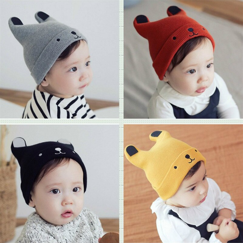 Baby Cartoon Bear Hat for Kid Winter Baby Toddler Girl Boy Warm Cute Beanie Beanie Hat Cap Accessories