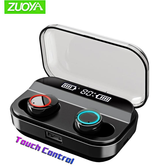 Wireless Earphones Bluetooth 5.0 Mini TWS Sport Earbuds Touch Control Earphone Gaming Headset with Charging box Display battery