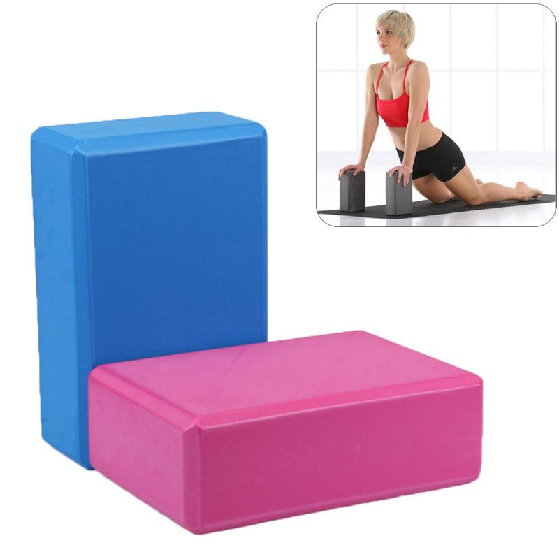 Latest Yoga Block Brick Foaming Aid Gym Pilates Workout Stretching Props Foam Home Exercise Fitness Health Gym Practice Tools